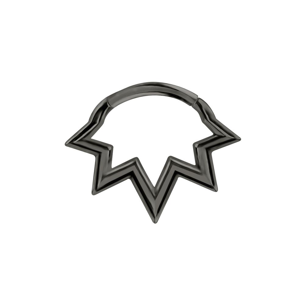 Septum / Daith Clicker - Piercingsmycke - Svart stjärna