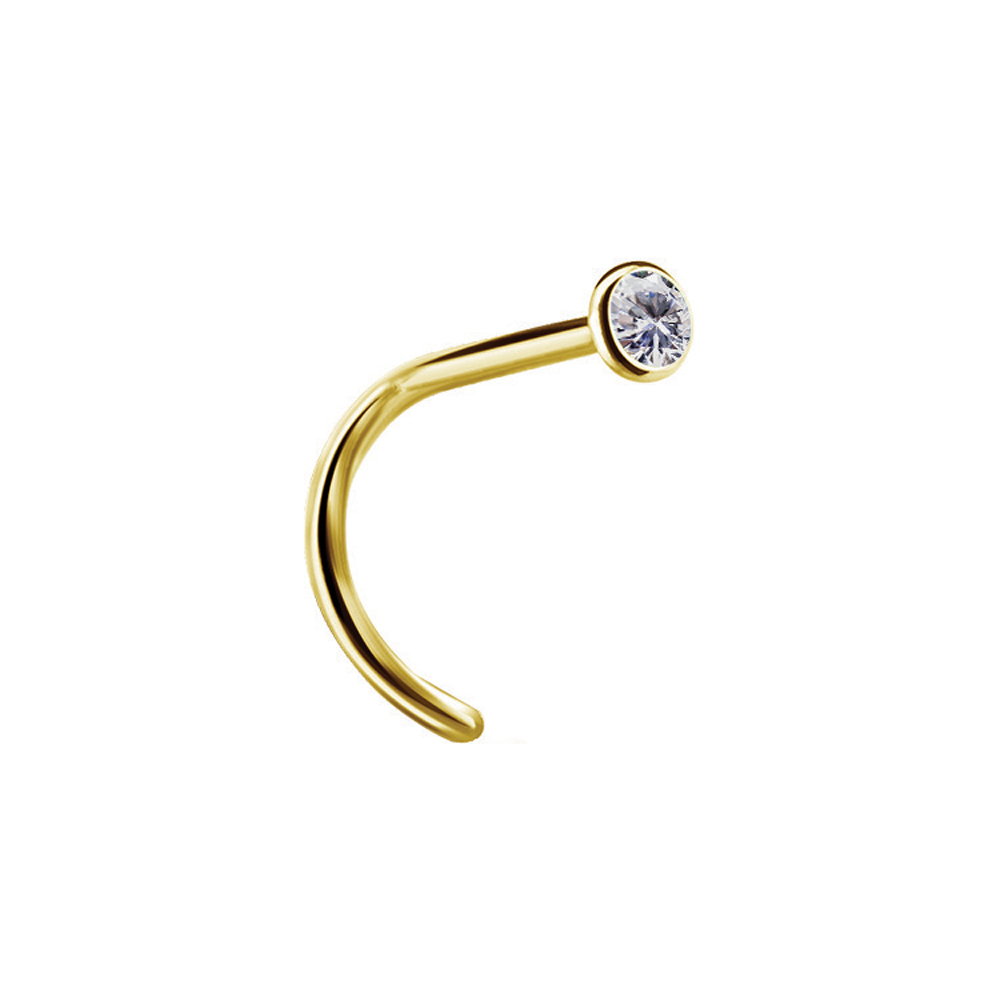 Nässmycke - Äkta 18k guld - Vit lite kristall