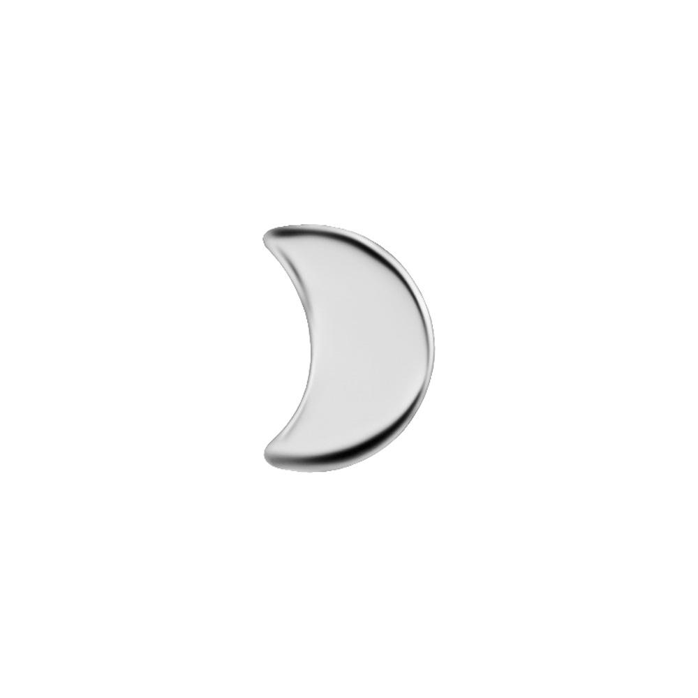 Liten måne - Topp till piercing i nickelfritt titan