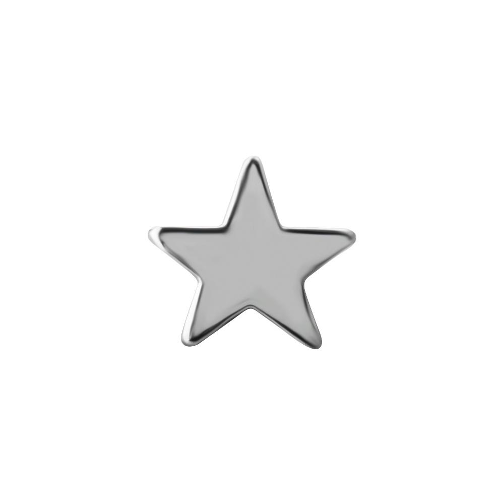 Liten stjärna - Topp till piercing i nickelfritt titan