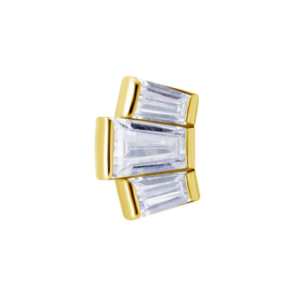 Cluster topp - Piercingsmycke - 24k guld pvd