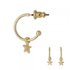 Pilgrim - Ava - guldiga örhängen med Stjärnor