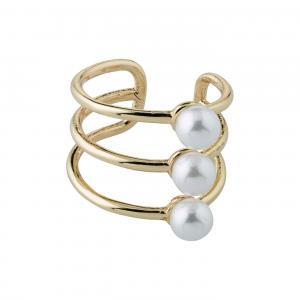 Ear cuff - Pilgrim - Guldpläterad - trippla ringar med pärlor