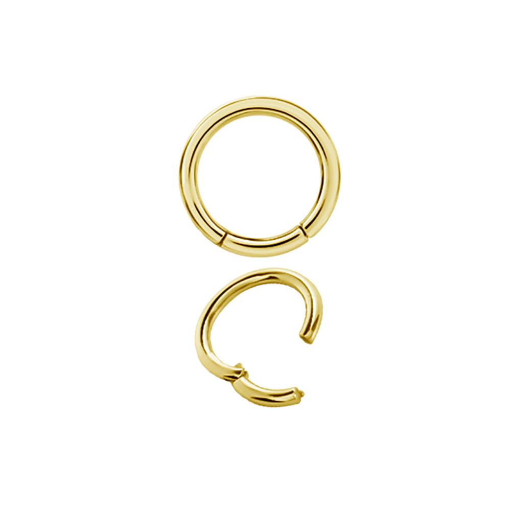 18k Äkta guld - Guldring till piercing - Slät ring