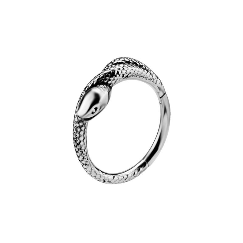Ring till piercing - Clicker - Silverring Orm