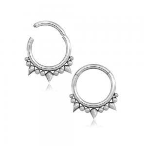Silvrig ring - Clicker - Piercingsmycke - Taggar
