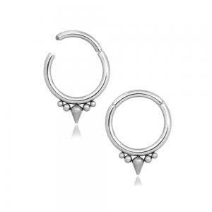 Silvrig ring - Clicker - Piercingsmycke - Tagg