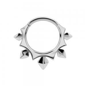 Ring till piercing - Clicker - Spetsiga nitar