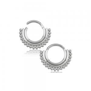 Silvrig ring - Piercingsmycke till Septum eller Daith