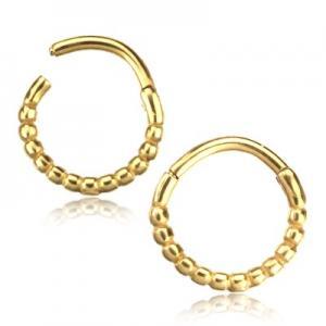 Piercingsmycke - Clicker Ring - Pvd Guld