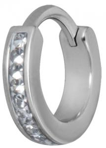 Clicker Ring Cz Vit, Gloss Finish