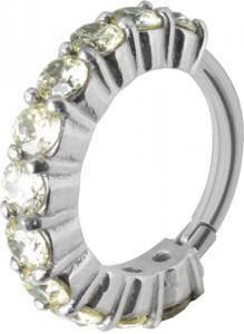 Clicker Ring Cz Ljusgrön