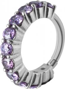 Clicker Ring Cz Ametist