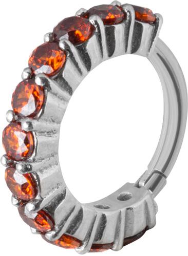 Clicker Ring Cz Röd