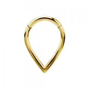 Ring till piercing - Teardrop Clicker - Guld