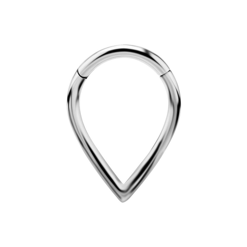 Ring till piercing - Teardrop Clicker - Silvrigt stål