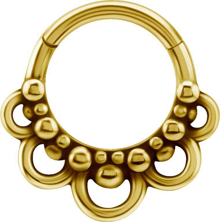 Clicker Ring - Guldpläterad ring till piercing
