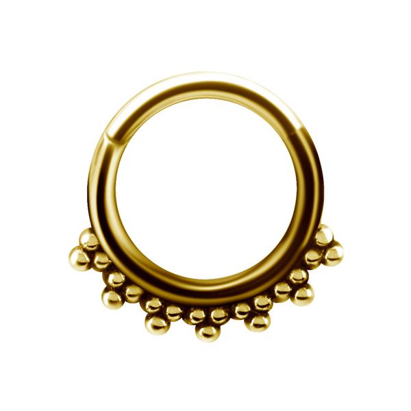 Piercingsmycke Ring - Guldpläterad clicker ring