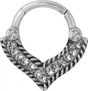 Septum Clicker, Anchor ring, Swarovski