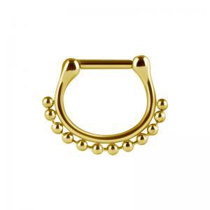 Septum Clicker, Bead ring, Guld