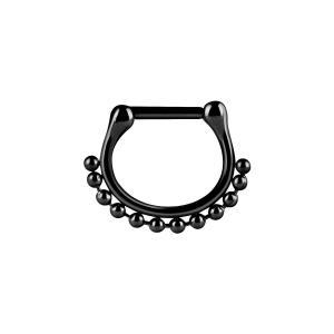 Septum Clicker, Bead ring, Svart