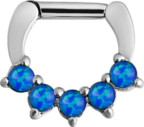Septum Clicker, Blå Opalit