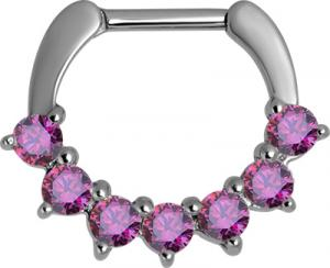 Septum Clicker, Ruby Swarovski