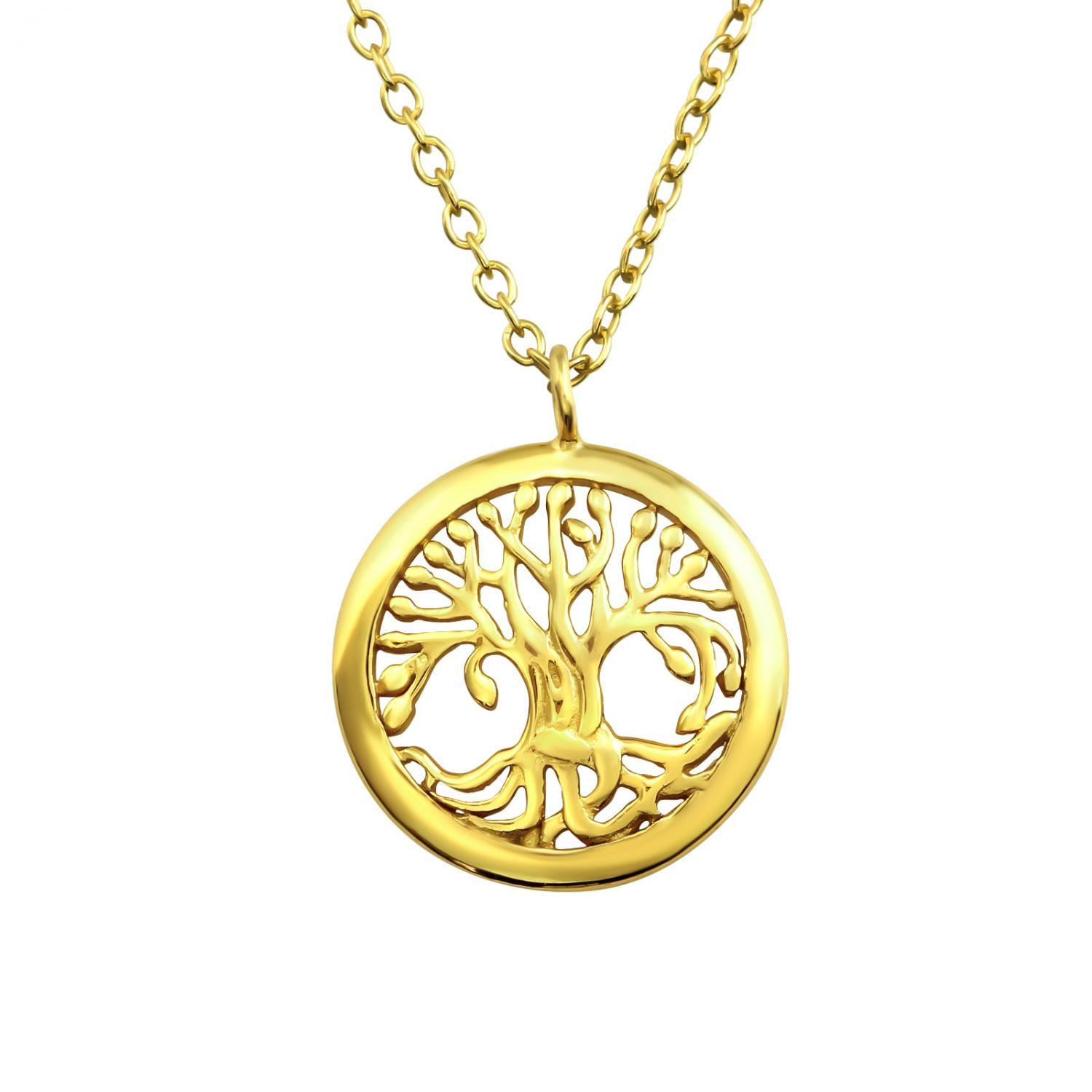 Halsband - Gold Tree of Life
