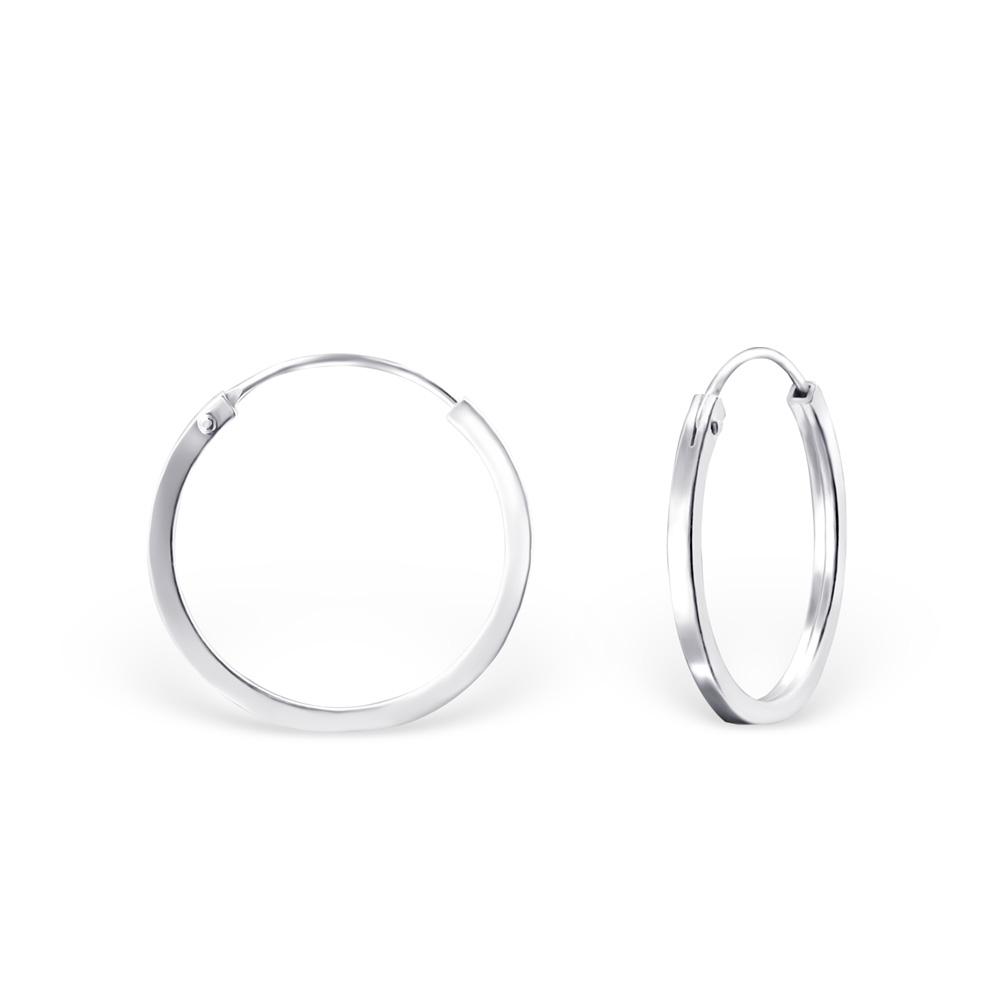 Hoops - 18 mm - Äkta Silver