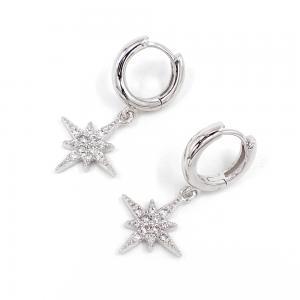 Huggie Hoops - Creoler Ringar med stjärna och kristaller