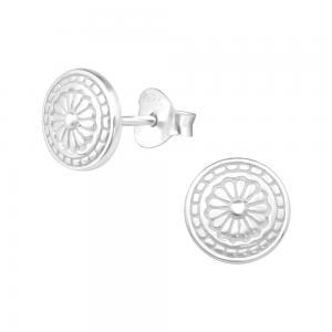 Mandala - Studs - Örhängen i äkta silver