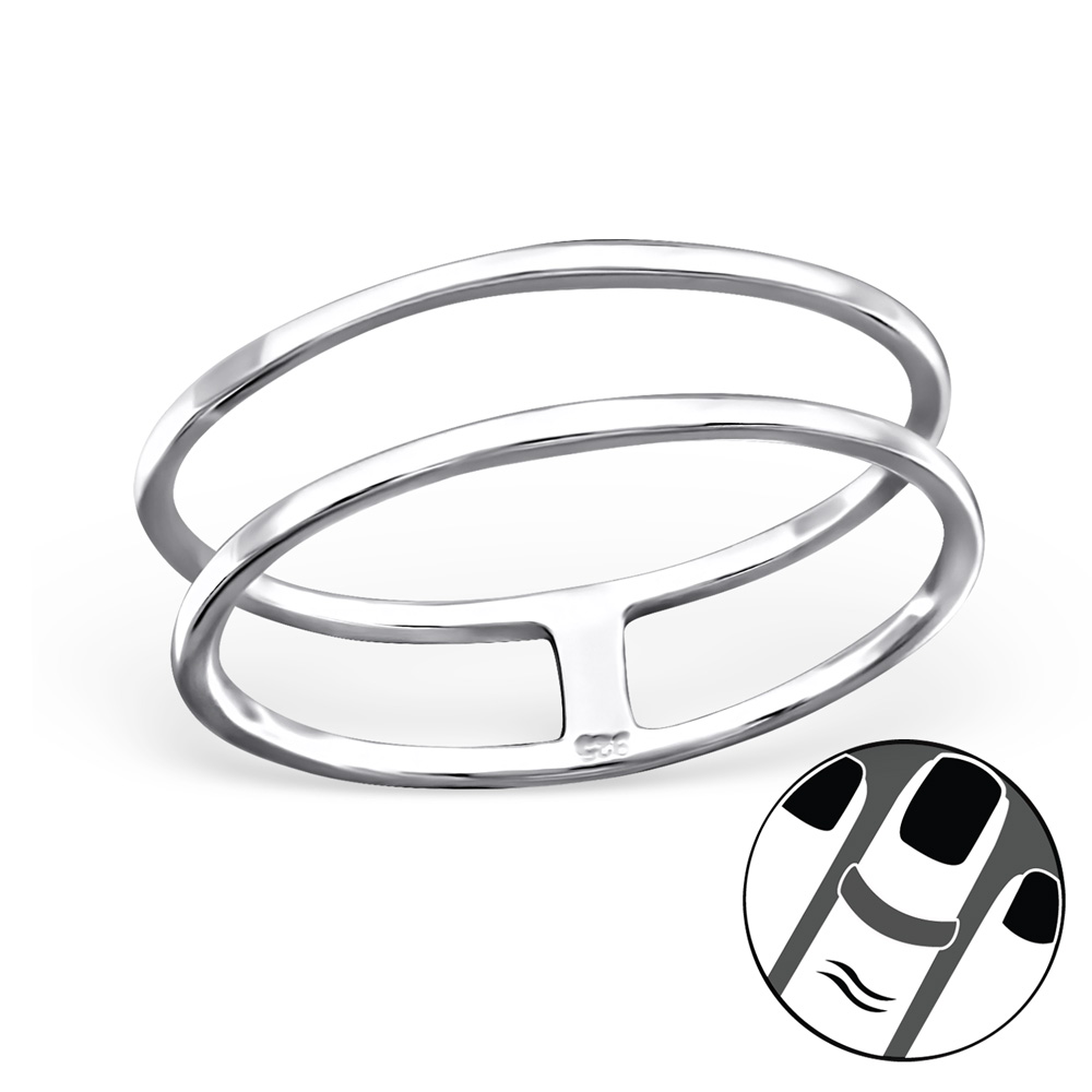 Midi Fingertoppsring - Twin