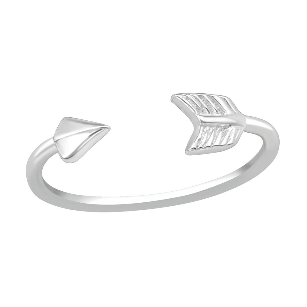Tåring / Fingertoppsring - Äkta silver - Pil