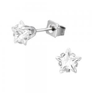 Stjärnor - Studs - Kristallörhängen i kirurgiskt stål