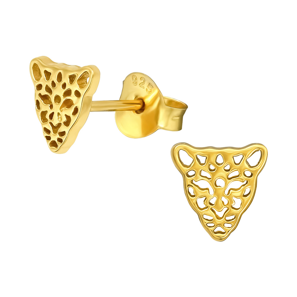 Stiftörhängen - Jaguar i guld - Ear studs