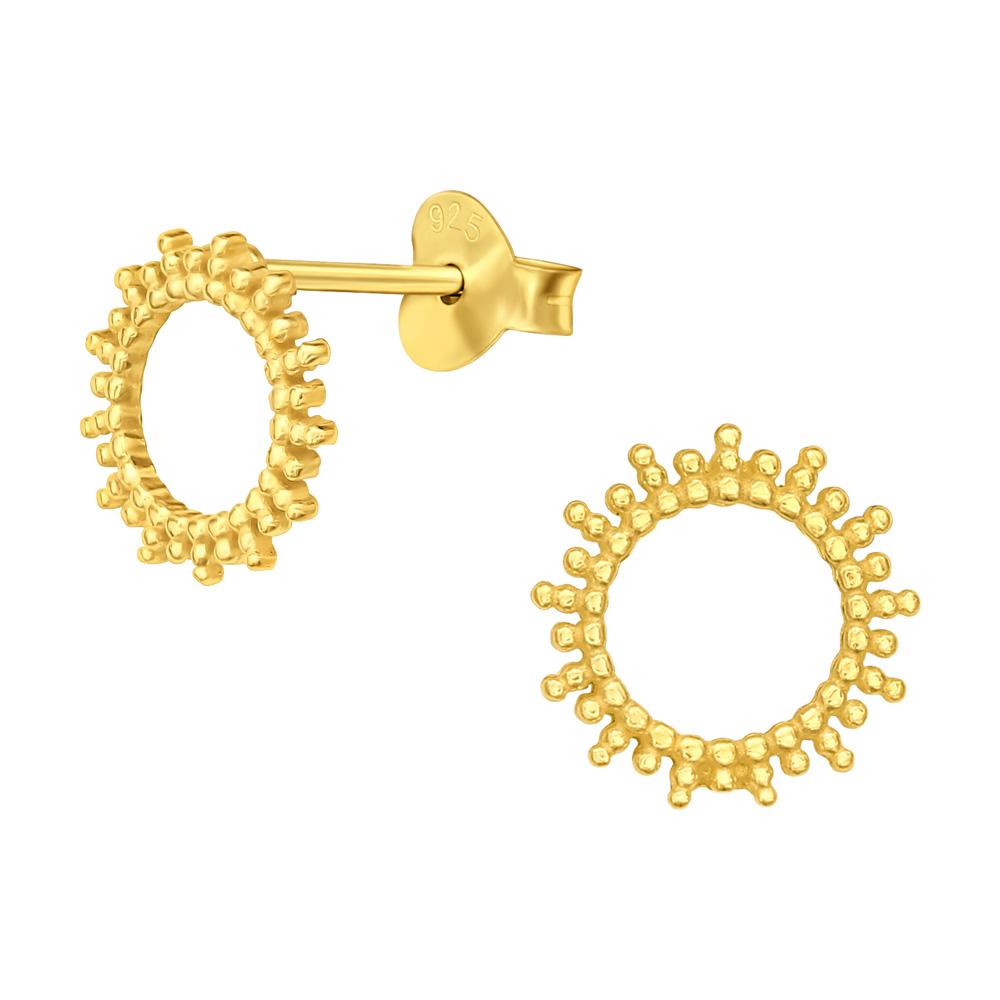 Stiftörhängen - Sol i guld - Ear studs