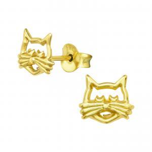 Örhängen Studs - Katt
