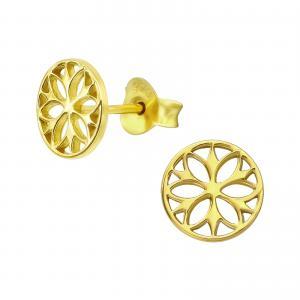 Stiftörhängen - Mandala - Guldpläterat
