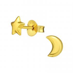 Stiftörhängen - Stjärna & Måne