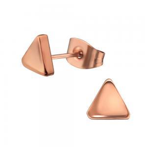 Triangel - Örhängen studs - Roséguld