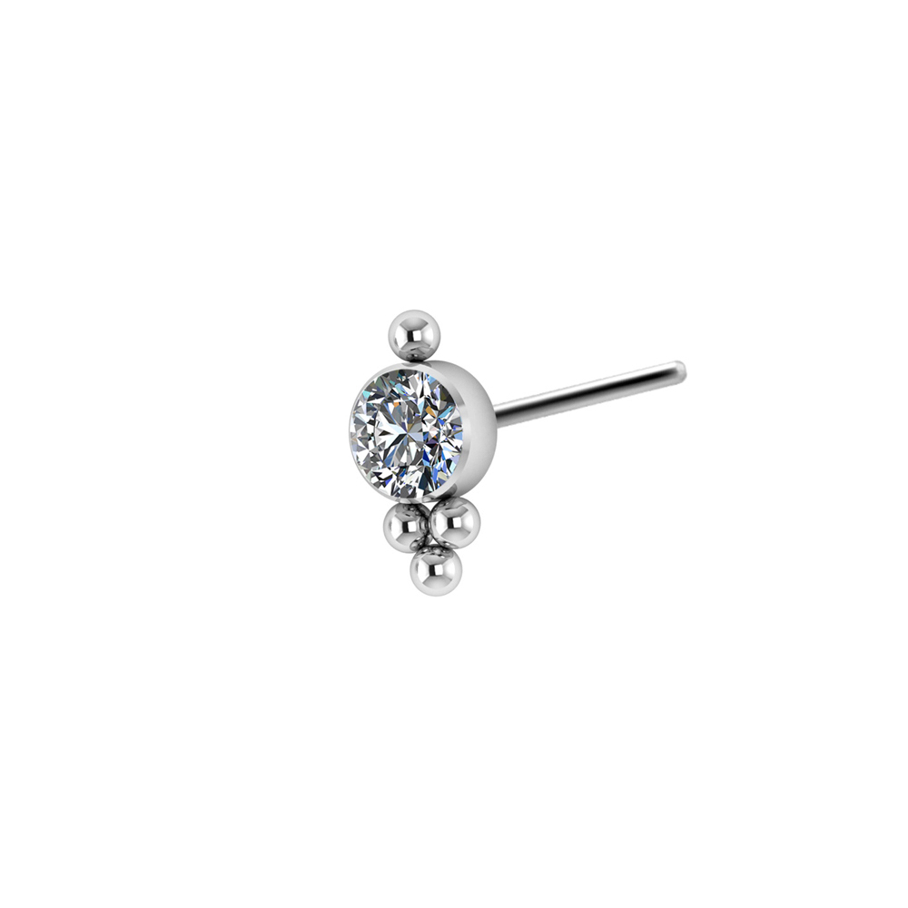 Kristalltopp - Push fit - Threadless piercingsmycke