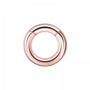 Tjock segment clicker ring - Roséguld - Slät ring till piercing i kirurgiskt stål