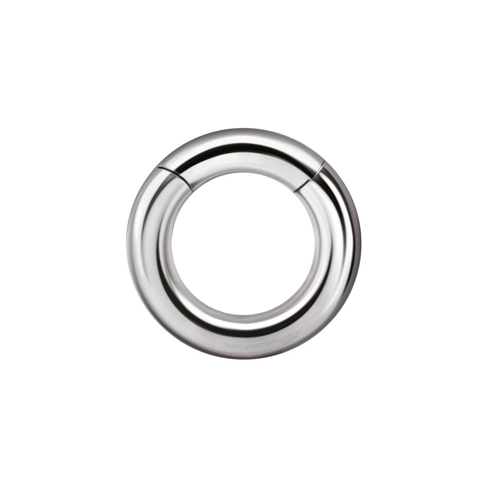 Tjock segment clicker ring - Slät ring till piercing i kirurgiskt stål