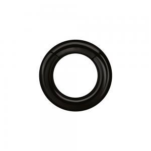 Tjock Segment clicker ring - Svart kirurgiskt stål - Slät ring till piercing