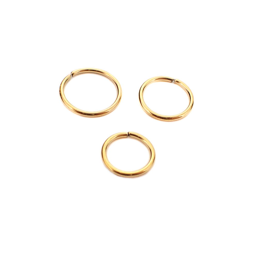 Tunn Guldring - Seamless -24k-guldpläterad - Ring till piercing