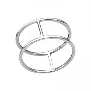 Ring i Äkta silver - Cylinder