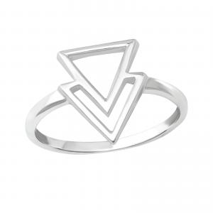 Ring i Äkta silver - Geometri