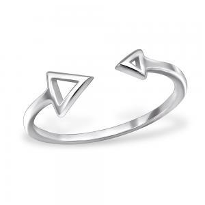 Ring i Äkta silver - Trekant