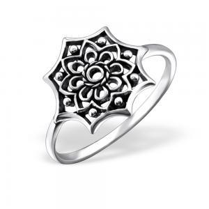 Ring i Äkta silver - Mandala