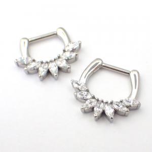 Piercing smycke till septum med sju stycken klara vita marquise swarovski kristaller